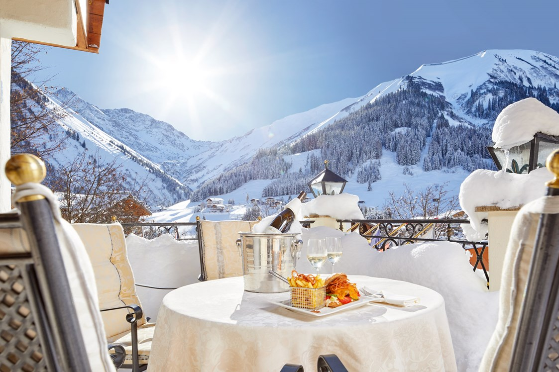 Skihotel: Terrasse - Hotel Singer - Relais & Châteaux
